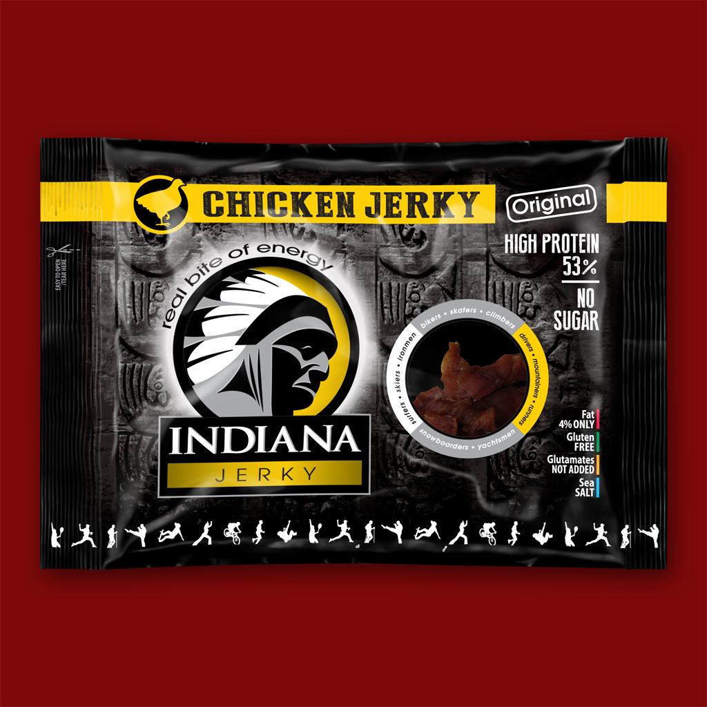 Indiana Chicken Jerky, 100g