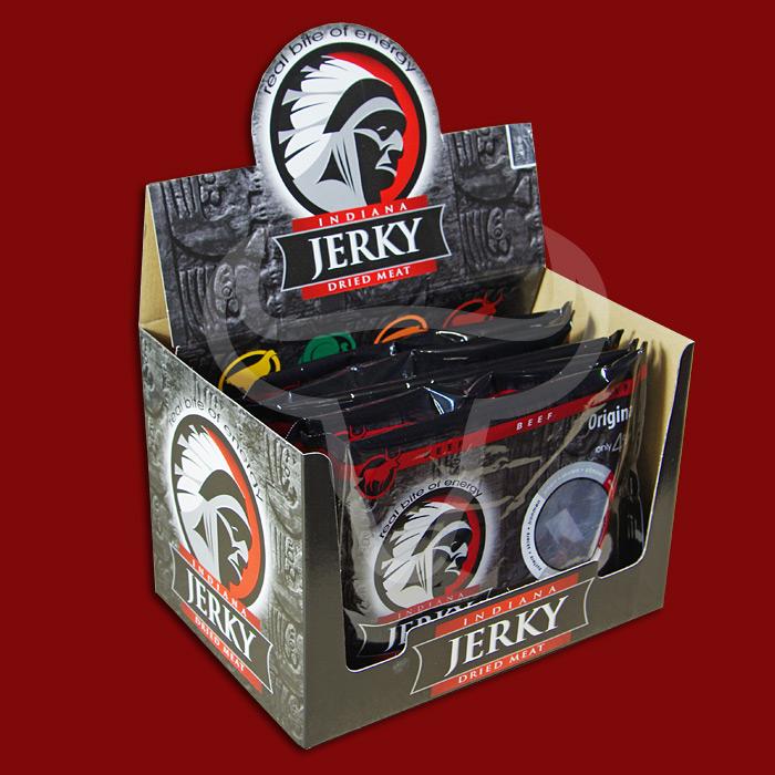Indiana Beef Jerky Original, 100g - 10 Packungen