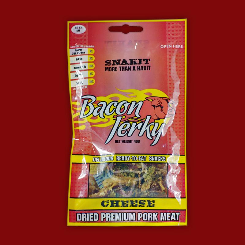 Snakit Bacon Jerky Käse, 40g