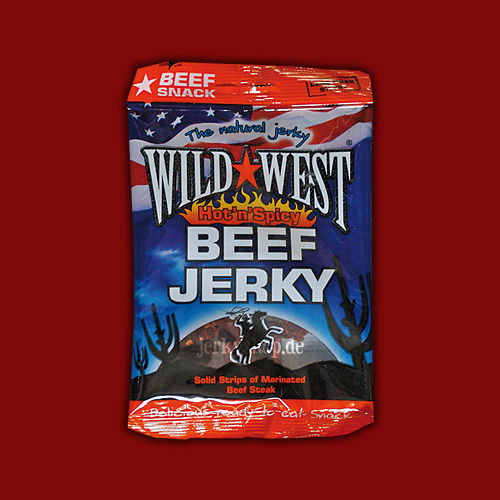 Wild West Natural Beef Jerky Hot'n'Spicy, 25g