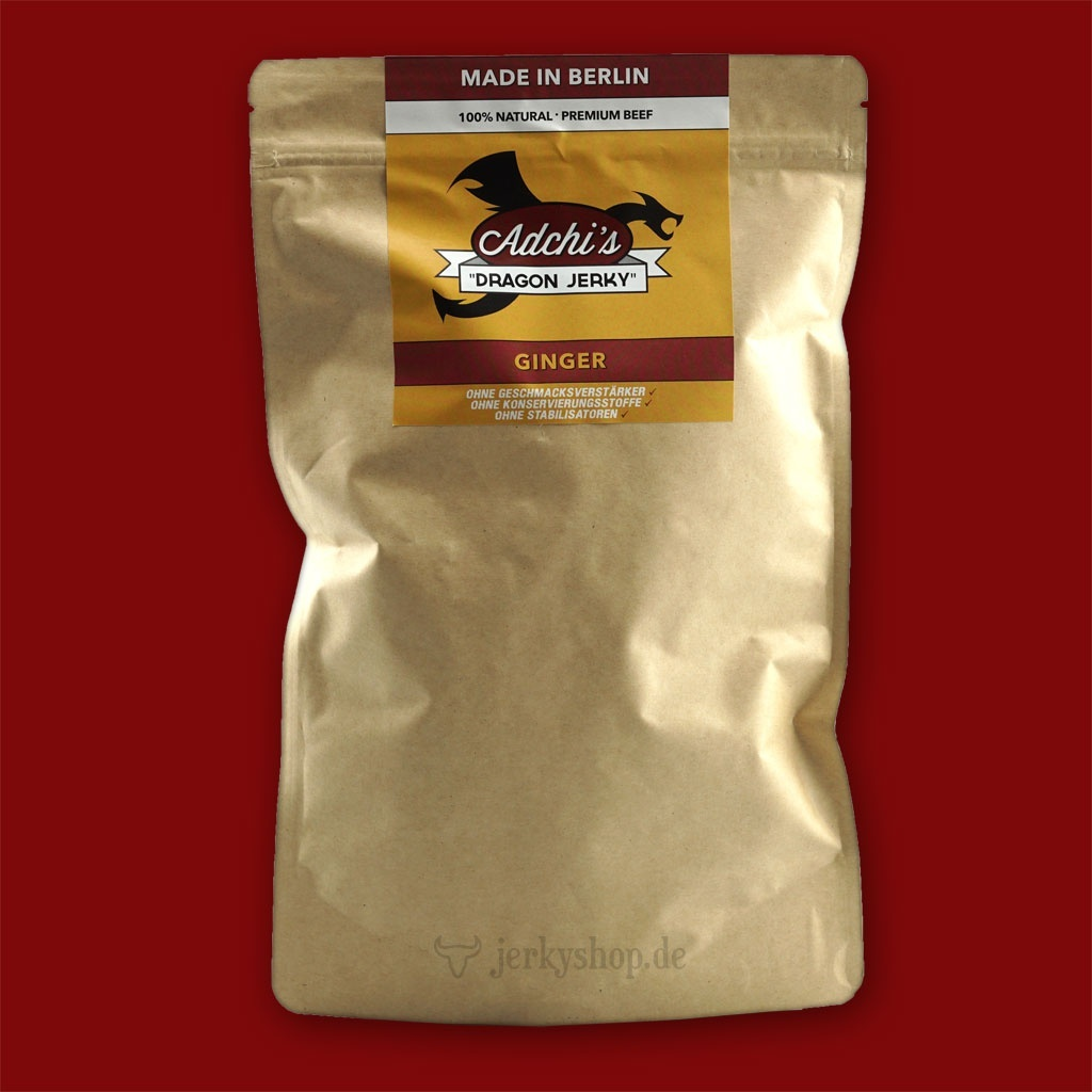 Adchi's Dragon Beef Jerky - Ginger,  250g