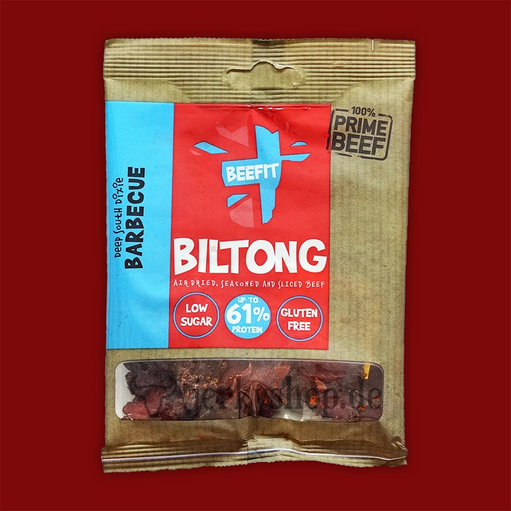 Beefit Snacks Biltong - Deep South Dixie Barbecue, 35g