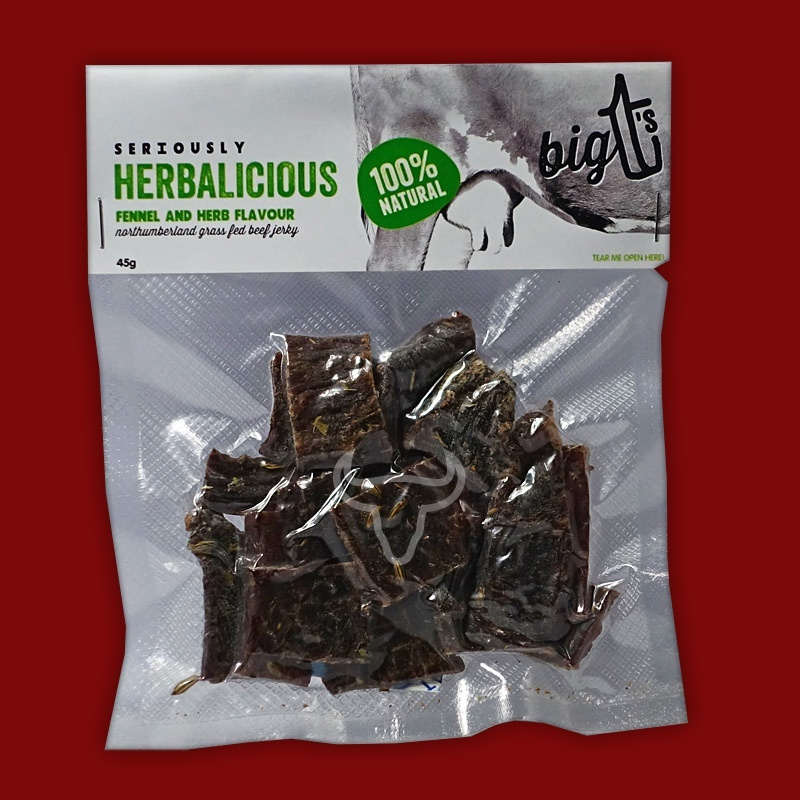 Big T's Beef Jerky - Fennel & Herb, 45g