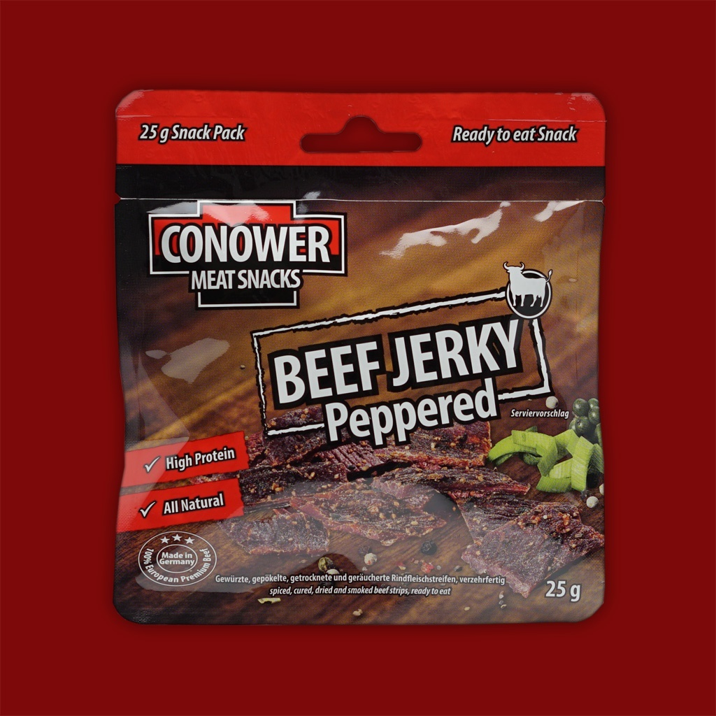 Conower Beef Jerky Peppered, 25g