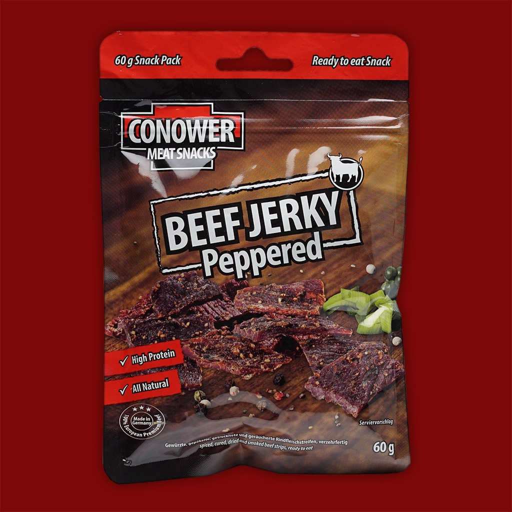 Conower Beef Jerky Peppered,  60g