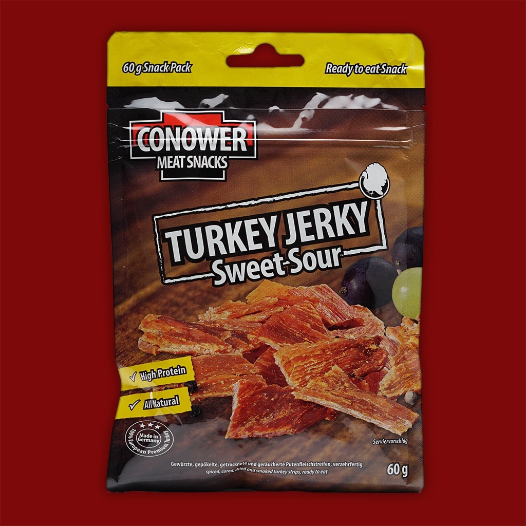 Conower Turkey Jerky - Sweet Sour,  60g