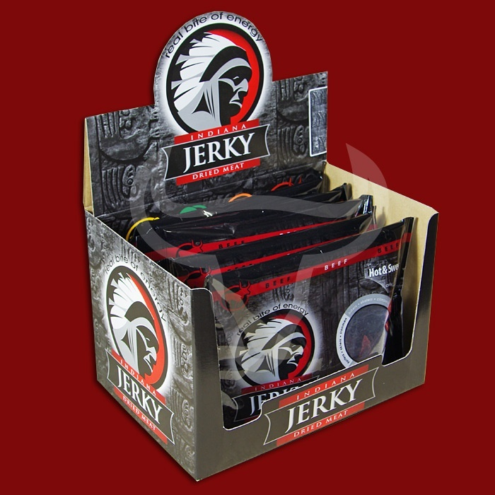 Indiana Beef Jerky Hot & Sweet, 100g - 10 Packungen