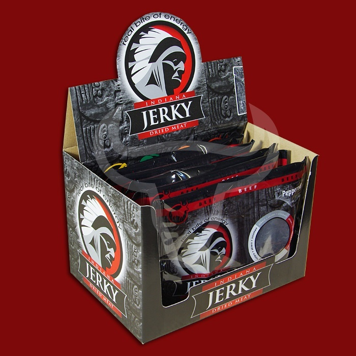 Indiana Beef Jerky Peppered, 100g - 10 Packungen
