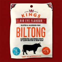 Kings Rib Eye Flavour Biltong, 25g