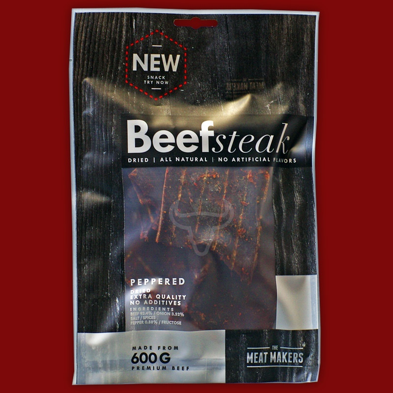 Meat Makers Dried Beef Steak - Peppered, 200g
