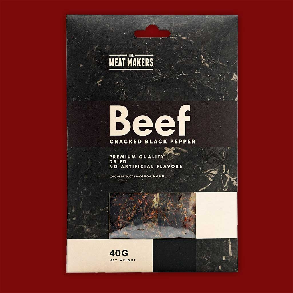 "Meat Makers ""Gourmet Line"" Beef Jerky - Cracked Black Pepper, 40"