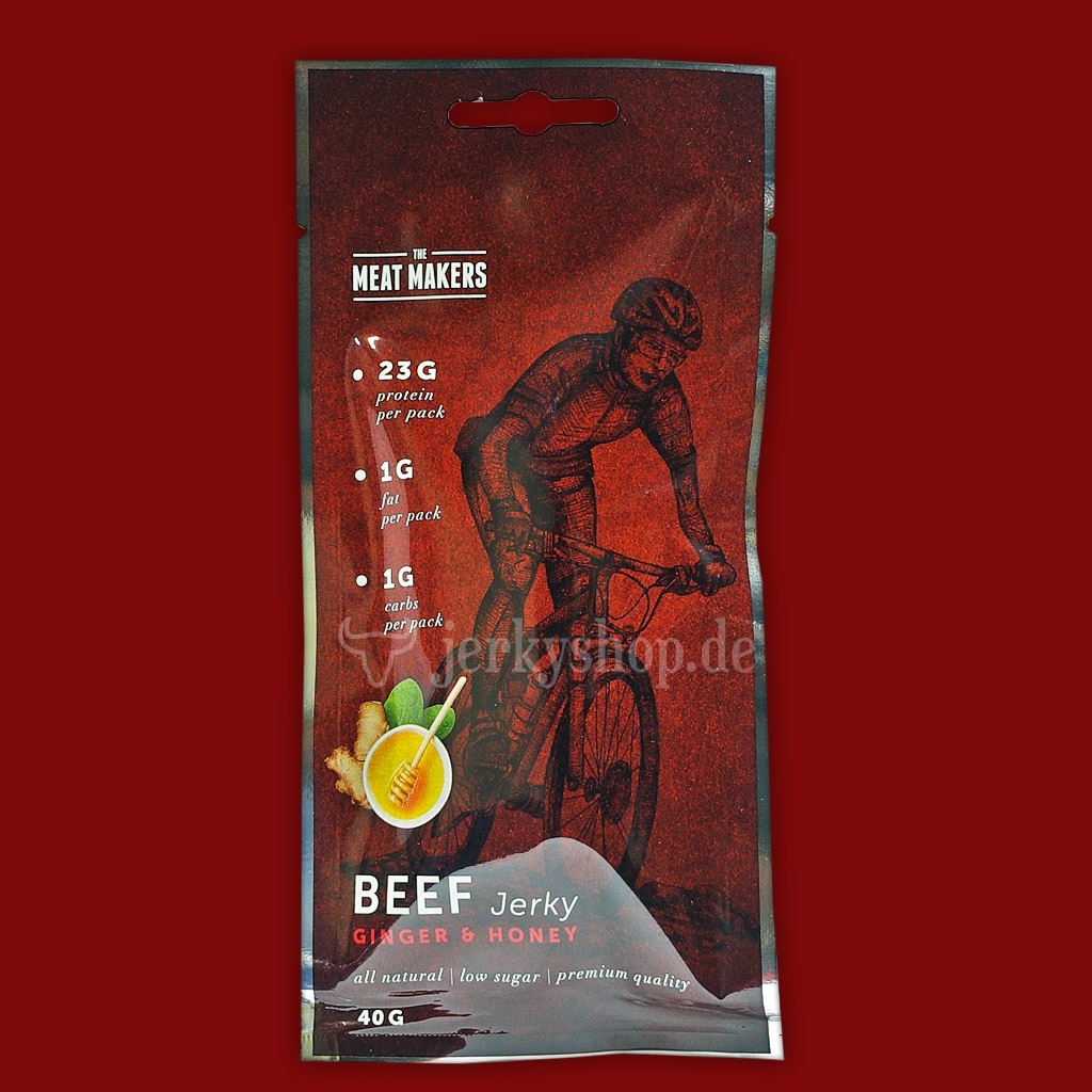"Meat Makers ""Active Line"" Beef Jerky - Ginger & Honey, 40g"