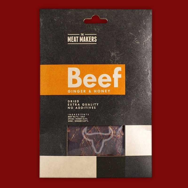 "Meat Makers ""Gourmet Line"" Beef Jerky - Ginger & Honey,  40g RP"