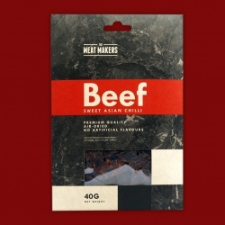 "Meat Makers ""Gourmet Line"" Beef Jerky - Sweet Asian Chili, 40g"
