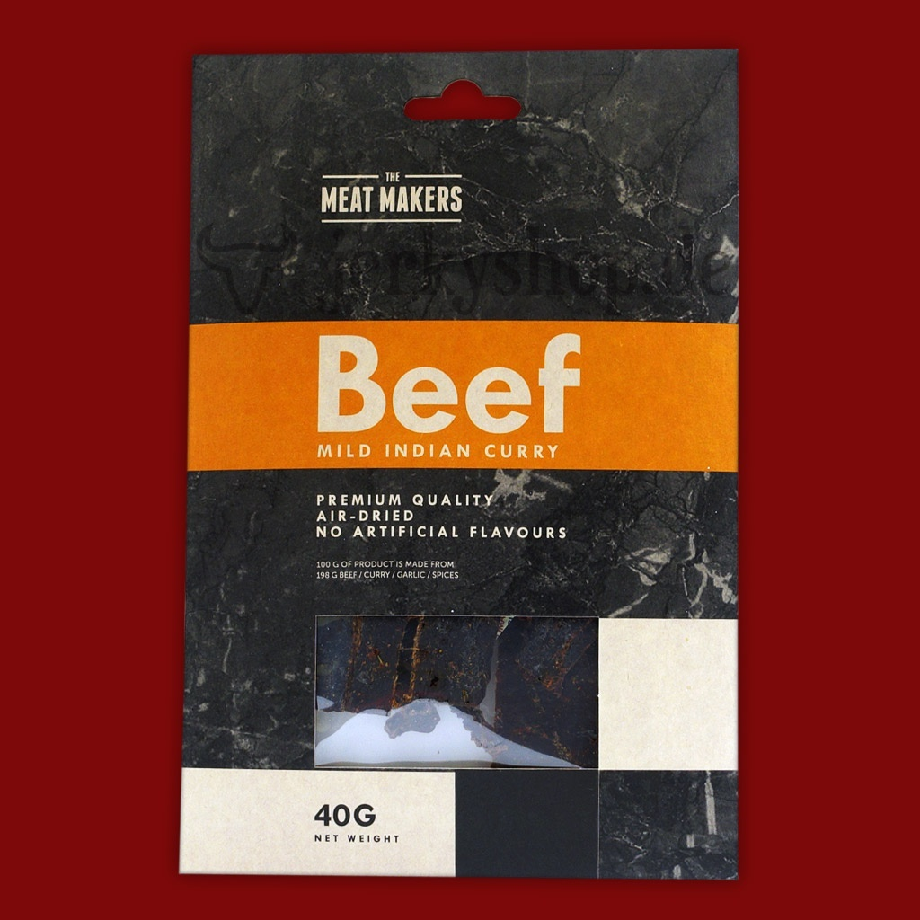 "Meat Makers ""Gourmet Line"" Beef Jerky - Mild Indian Curry, 40g"