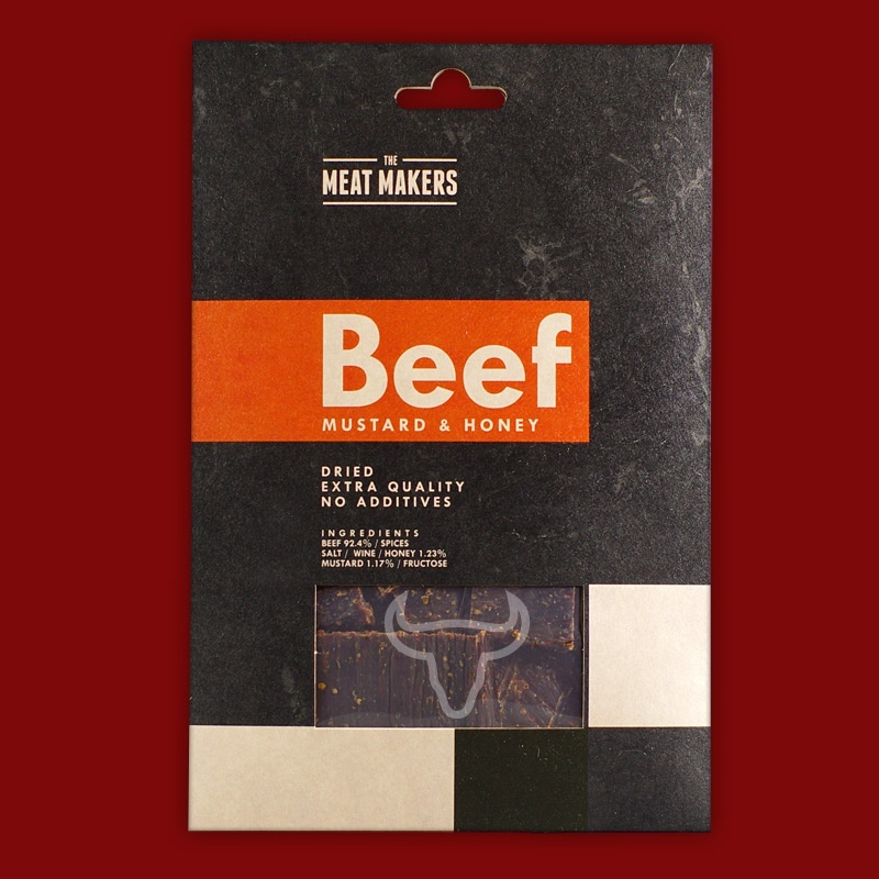 "Meat Makers ""Gourmet Line"" Beef Jerky - Mustard & Honey, 40g"