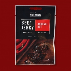 "Meat Makers ""Snack Pack"" Beef Jerky - Original Hot, 25g"