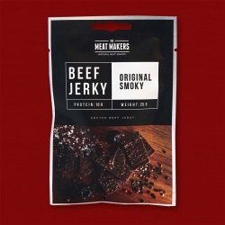 "Meat Makers ""Snack Pack"" Beef Jerky - Original  Smoky, 25g"