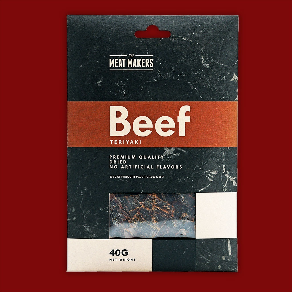 "Meat Makers ""Gourmet Line"" Beef Jerky - Teriyaki, 40g"