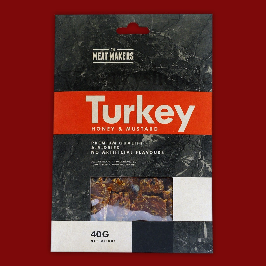 "Meat Makers ""Gourmet Line"" Turkey Jerky - Honey & Mustard, 40g"