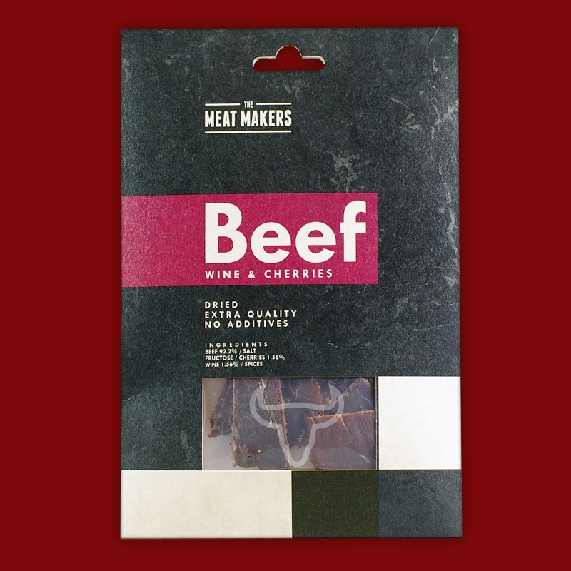 Meat Makers Beef Jerky - Wine & Cherries, 40g