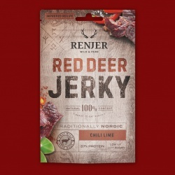 Renjer Red Deer Jerky Chili & Lime (Hirsch), 25g