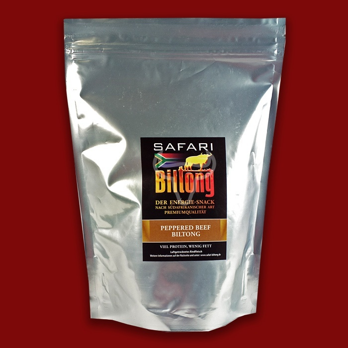 Safari Biltong Peppered, 400g