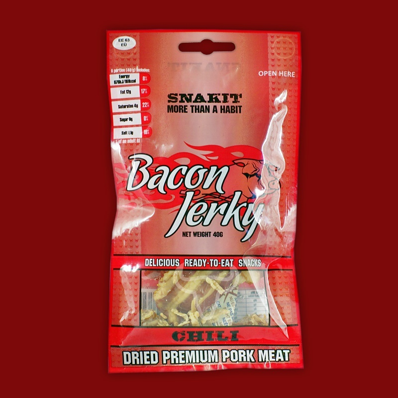 Snakit Bacon Jerky Chili, 40g