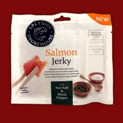 Speyside Salmon Jerky (Lachs) - Sea Salt & Black Pepper, 30g