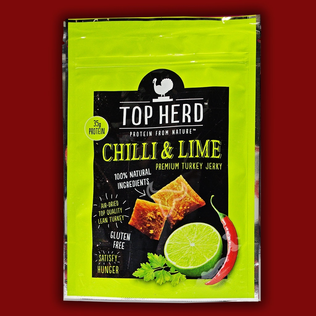Top Herd Turkey Jerky - Chilli & Lime,  70g