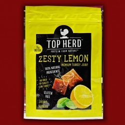 Top Herd Turkey Jerky - Zesty Lemon,  70g