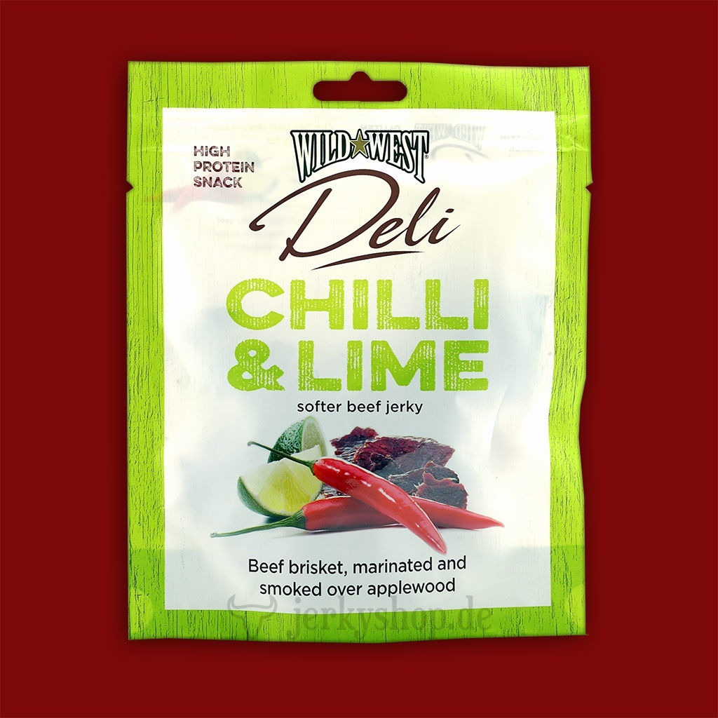 Wild West Deli Beef Jerky - Chilli & Lime, 25g