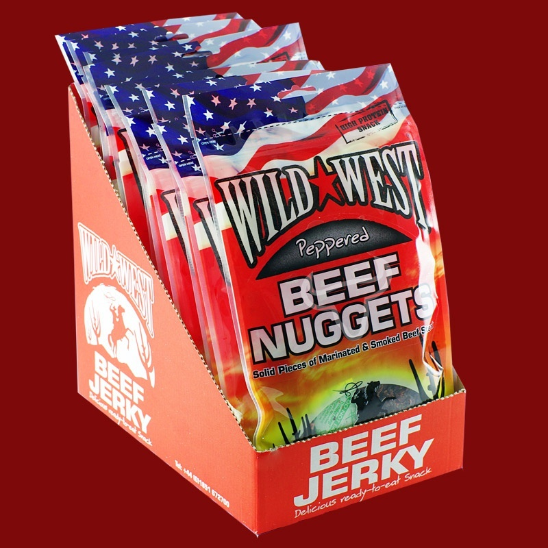 Wild West Beef Nuggets Peppered, 100g - 12 Packungen