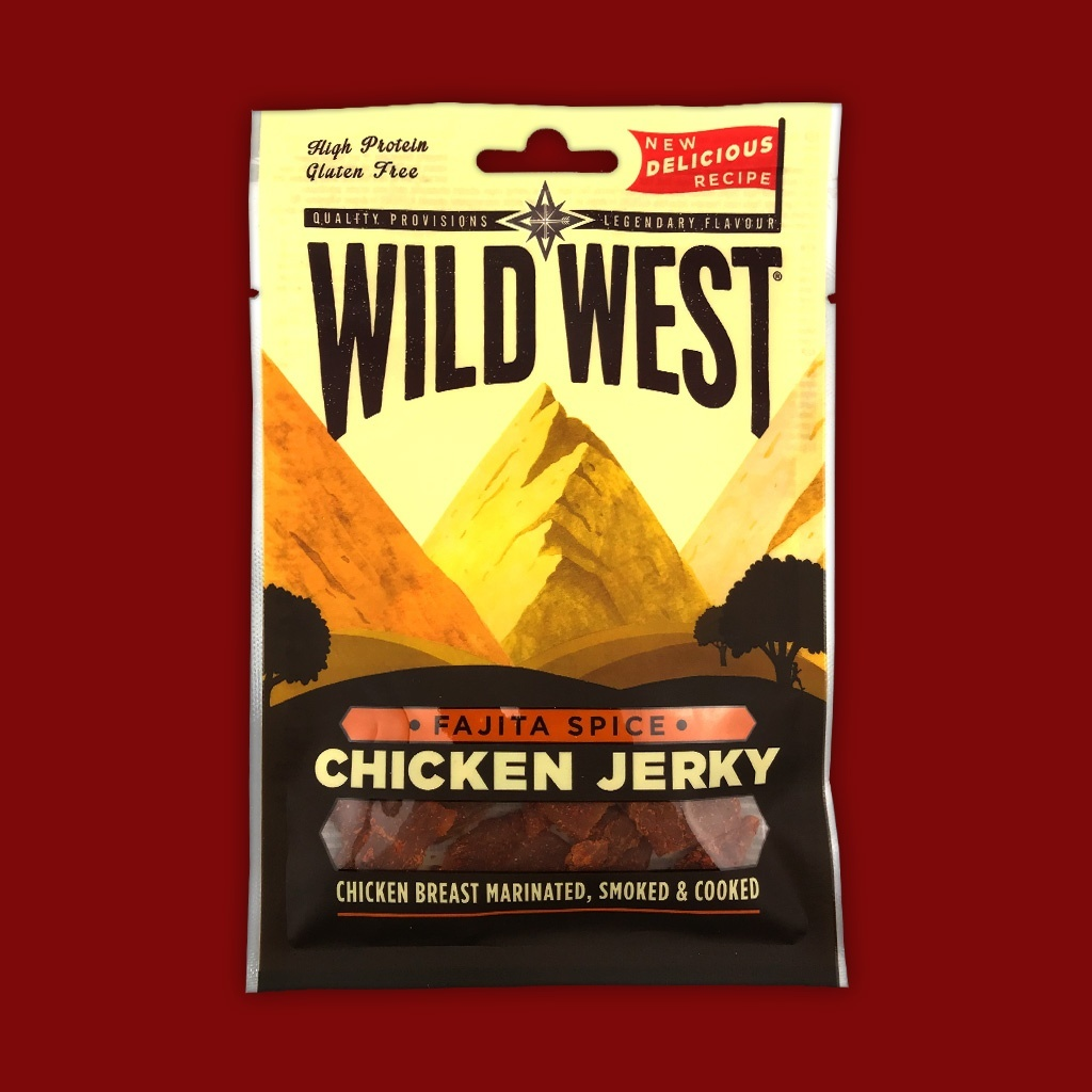 Wild West Chicken Jerky - Fajita Spice,  25g