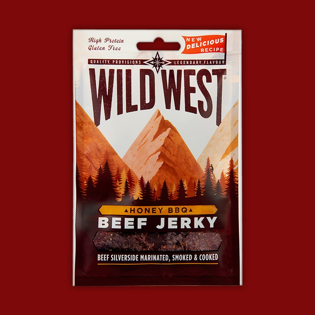 Wild West Beef Jerky - Honey BBQ,  70g