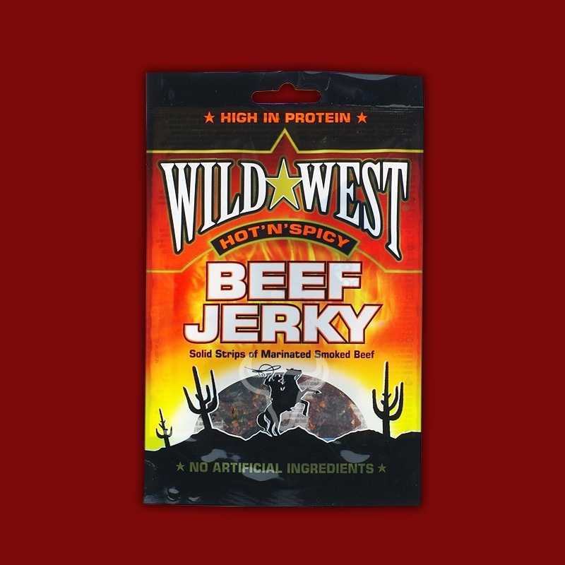 Wild West Beef Jerky Hot'n'Spicy, 25g