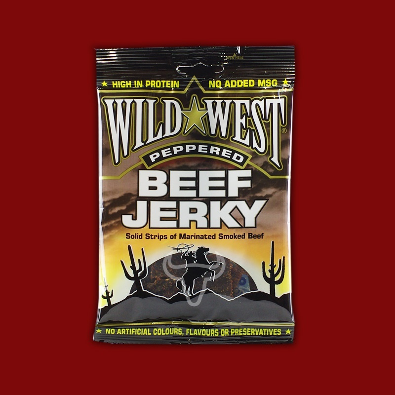 Wild West Beef Jerky Peppered, 25g
