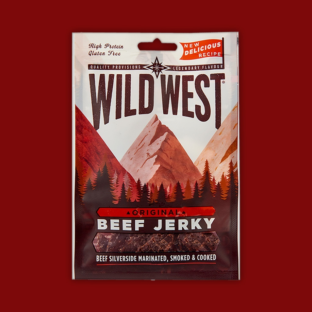 Wild West Beef Jerky - Original,  70g