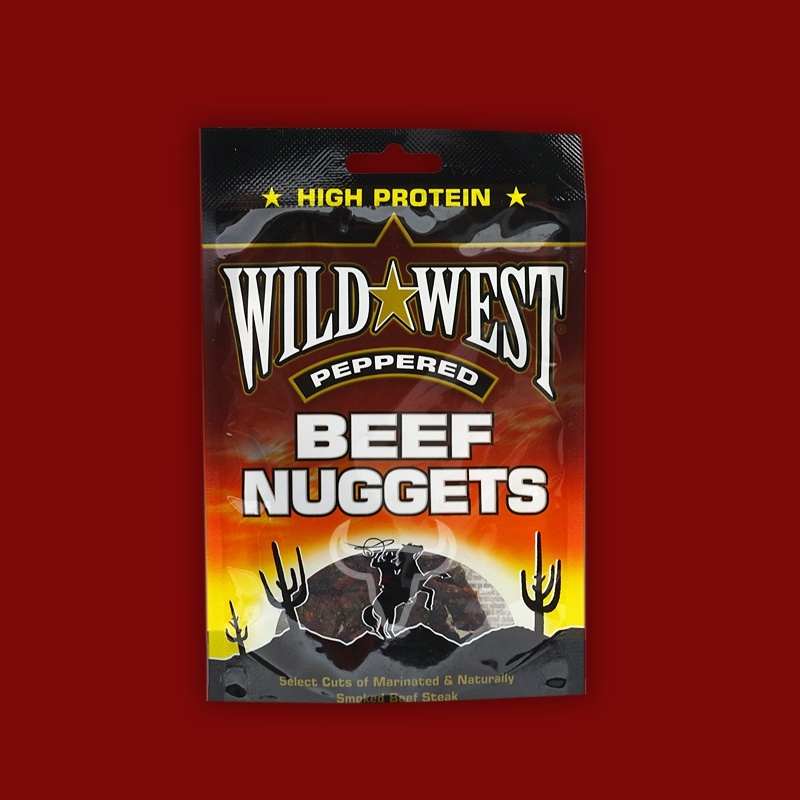 Wild West Beef Nuggets Peppered, 25g