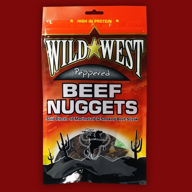 Wild West Beef Nuggets Peppered,  100g